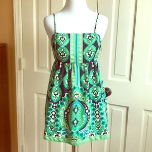 NWOT Banana Republic Green Babydoll Patterned Top
